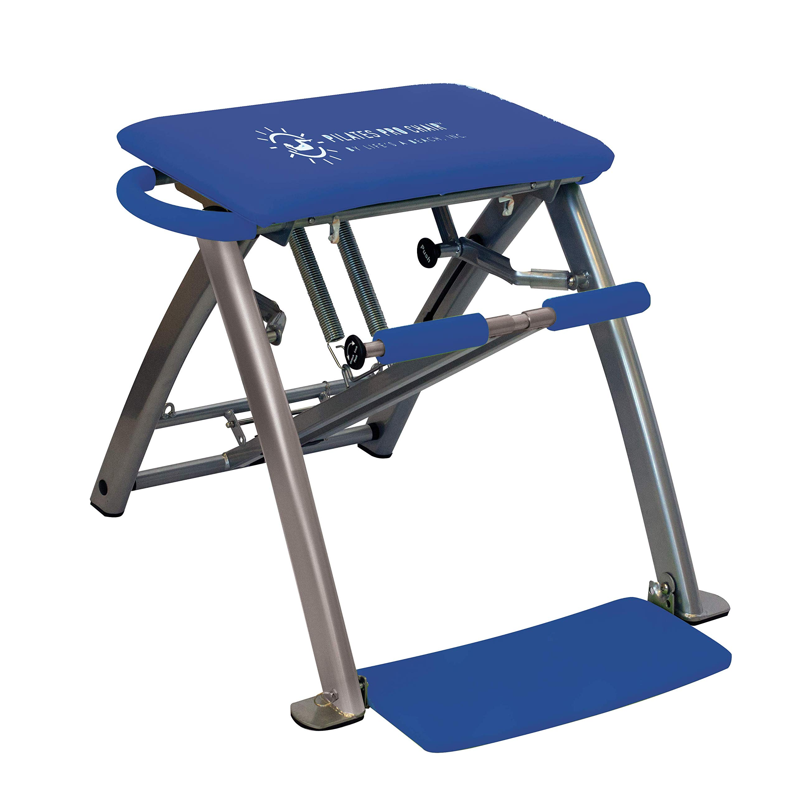 Life's A Beach Pilates PRO Chair with 4 DVDs (Royal Blue)