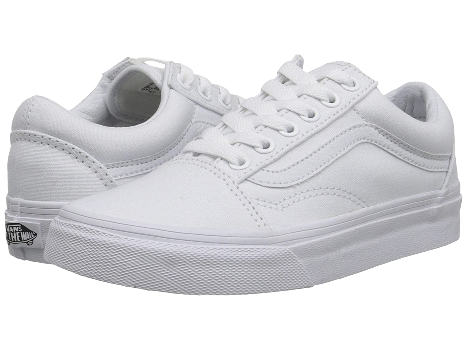 [バンズ] VANS OLD SKOOL B0795B7WC3 8.5 B(M) US Women / 7 D(M) US Men|ホワイト(True White) ホワイト(True White) 8.5 B(M) US Women / 7 D(M) US Men