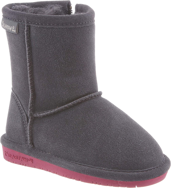 BEARPAW Kids Emma Toddler Zipper Mid Calf Boot