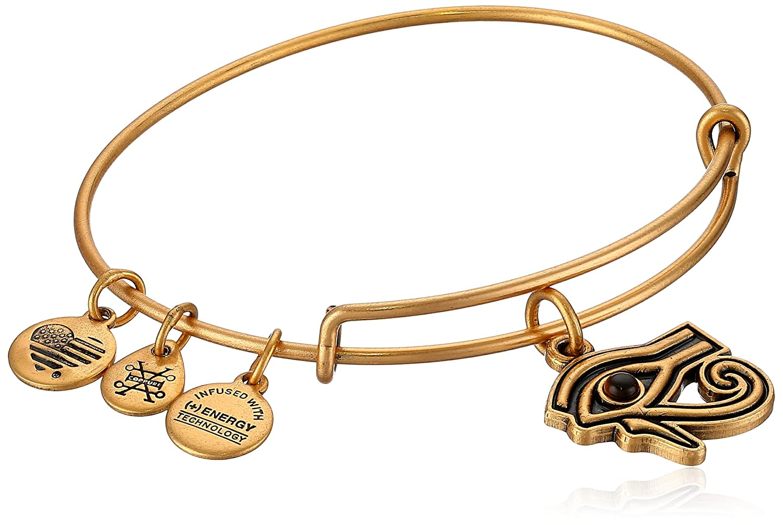 Alex and ANI Womens Eye of Horus EWB Bangle Bracelet, Expandable Rafaelian Gold A18EBEYERG