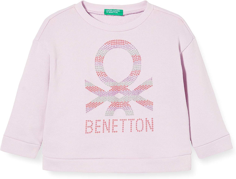 United Colors of Benetton Baby-M/ädchen Felpa Kapuzenpullover