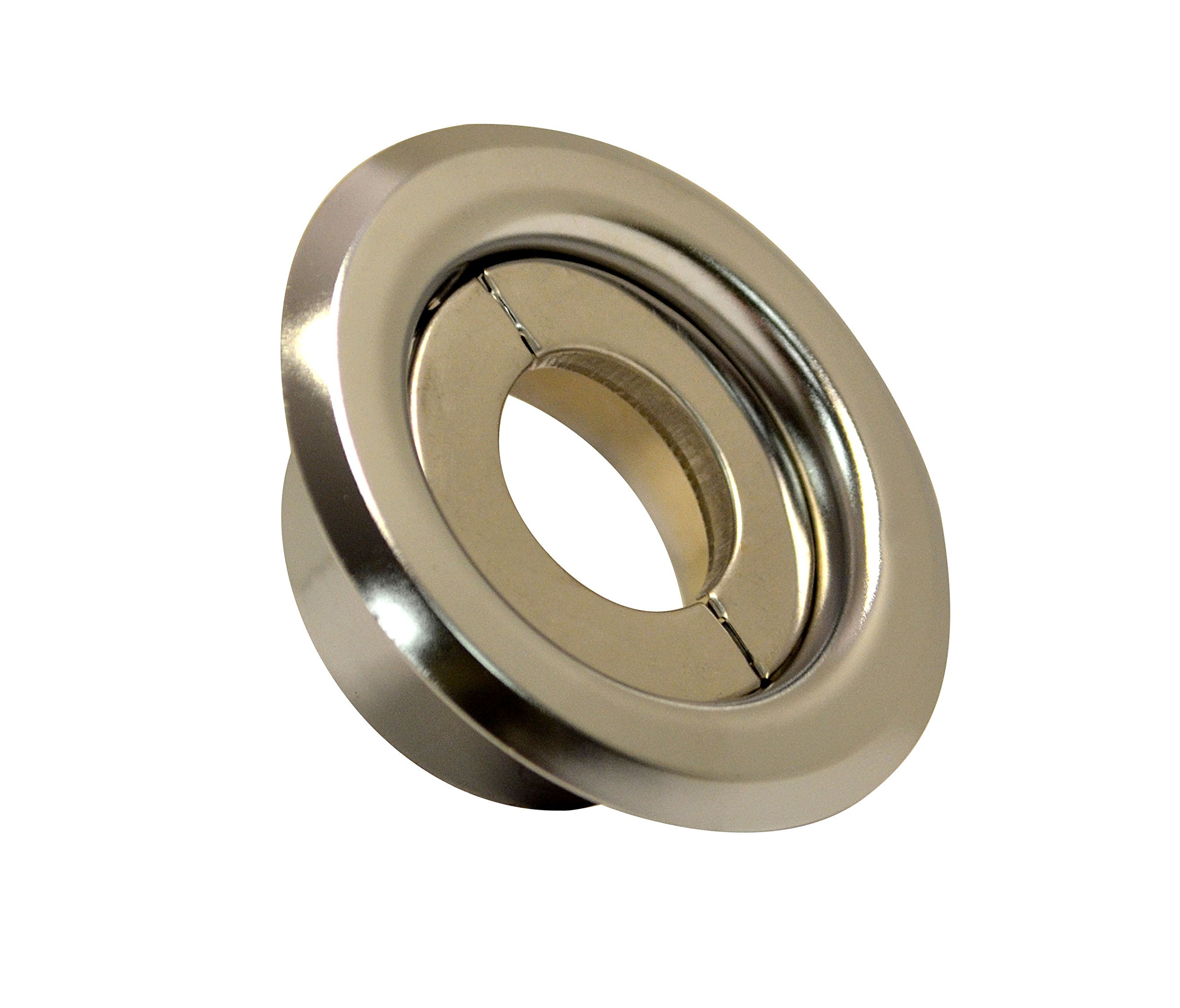 3/4'' Split Ring Recessed Two Piece Escutcheon - Chrome - 10 Pack