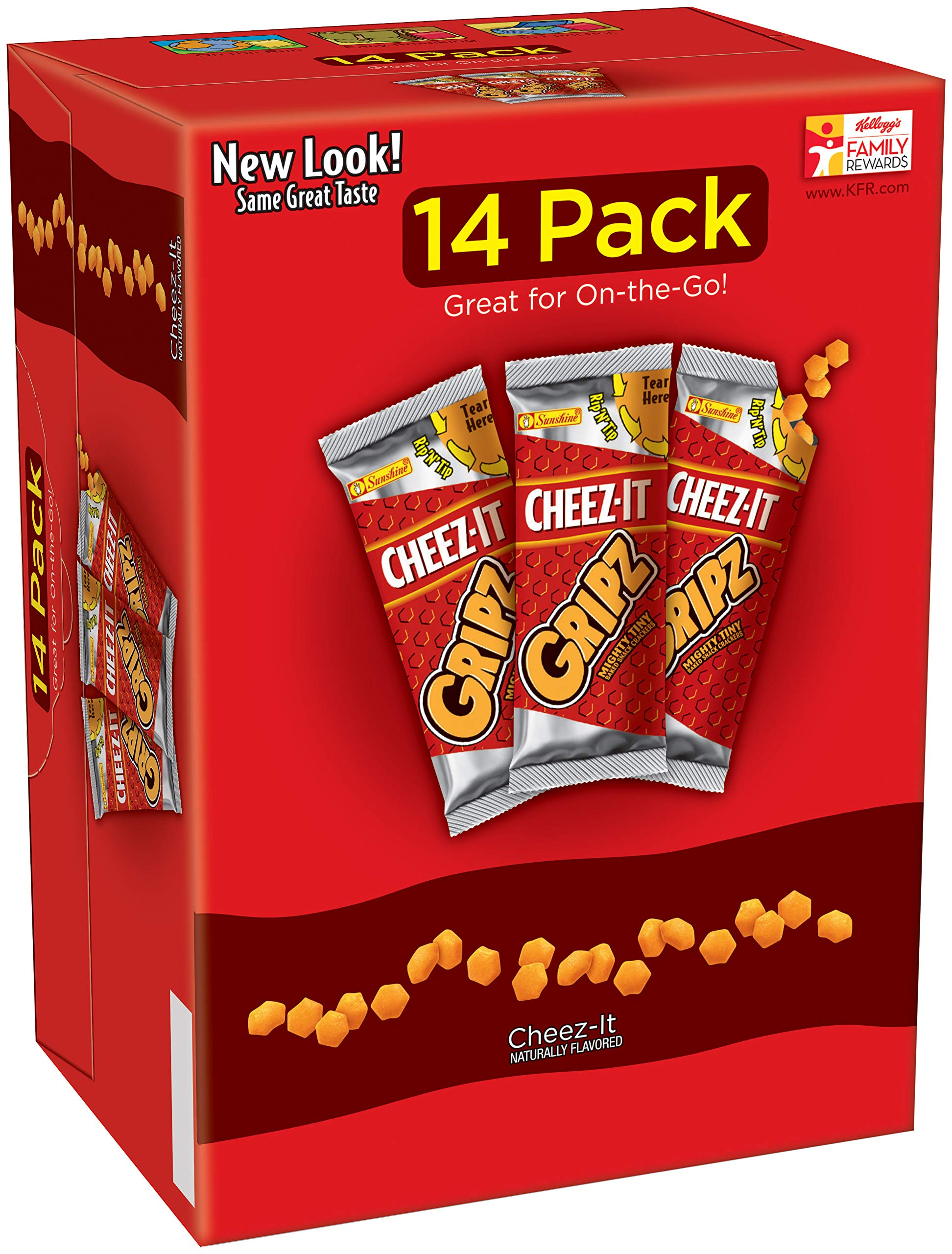 CheezIt Gripz Baked Snack Crackers 14-0.9 oz. Bags, 4 Count by Cheez-It (Image #1)