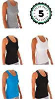 Womens Tank Tops, Basic Cotton Camisole Ribbed Racerback Tank Top Assorted Colors (5/6 Pack) (3 black / 3 White) …