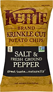 product image for Kettle Brand Krinkle Cut Potato Chips, Salt And Fresh Ground Pepper, 5 oz