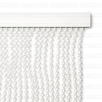cortina para puerta exterior blanca