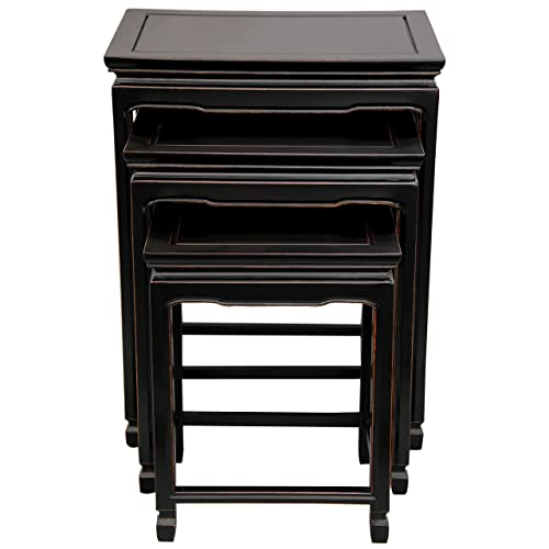 Oriental Furniture Rosewood Nesting Tables – Antique Black