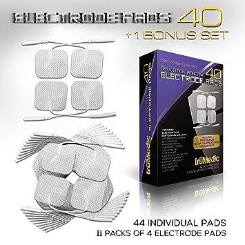 Amazon 40 Pack Replacement Tens Electrode Pads Bonus Set