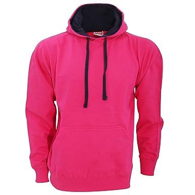FDM Unisex Contrast Hooded Sweatshirt / Hoodie (300 GSM) (XS) (Fuchsia