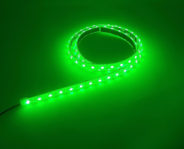 Marine Waterproof Submersible Flexible LED Light 12V 4ft GREEN