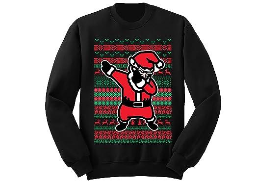 4bc4d64f7b8 fresh tees Dabbing Santa Claus Ugly Christmas Sweater Holiday Sweatshirt  (Small