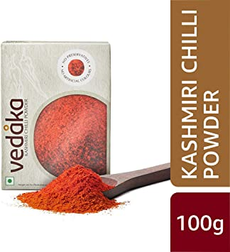 Amazon Brand - Vedaka Kashmiri Chilli (Lal Mirch) Powder, 100g
