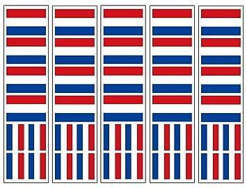 amazon com 40 tattoos dutch flag netherlands party favors health