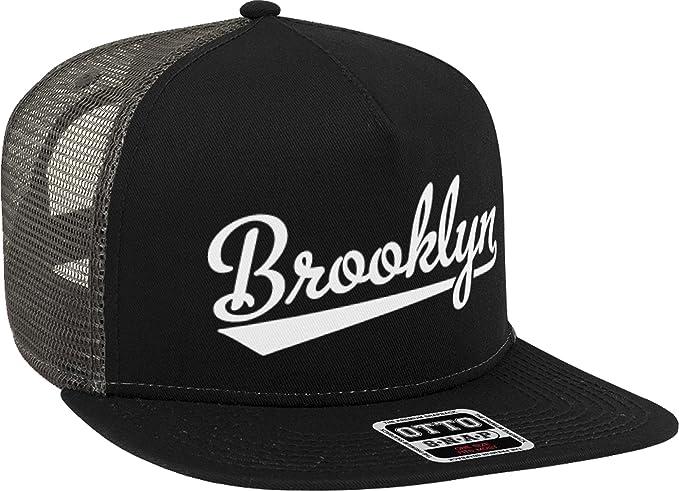 NOFO Clothing Co Brooklyn Script Baseball Font Snapback Trucker Hat ... c40dec51eb69