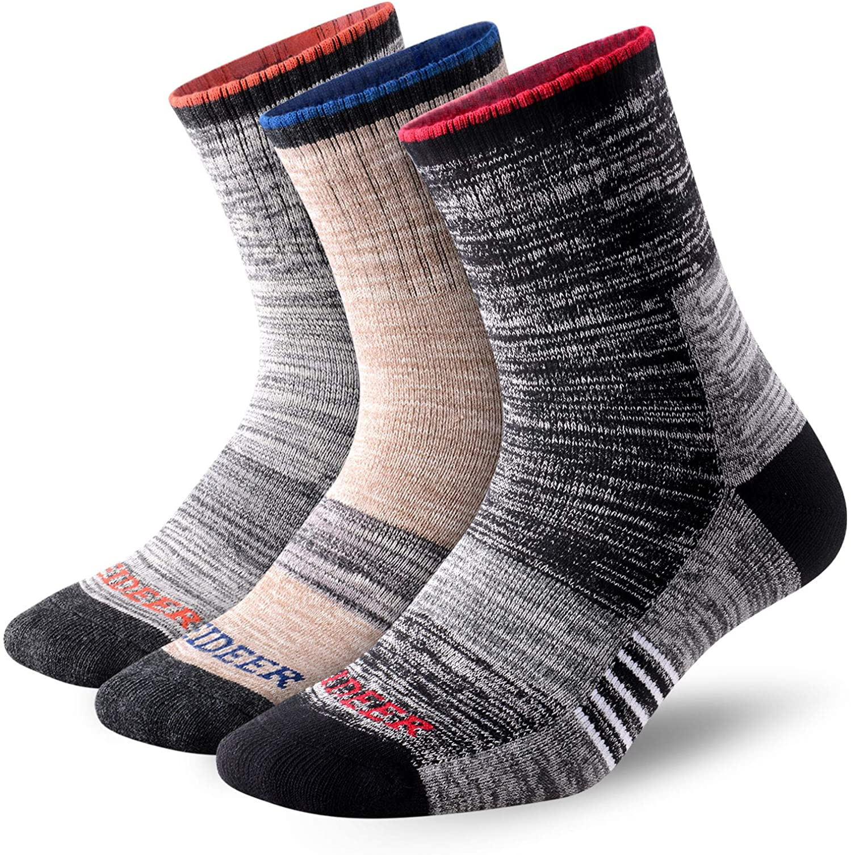 FEIDEER Multi-pack Outdoor Recreation Socks Wicking Cushion Anti Blister Crew Quarter Athletic Sport Socks Womens Walking Hiking Socks