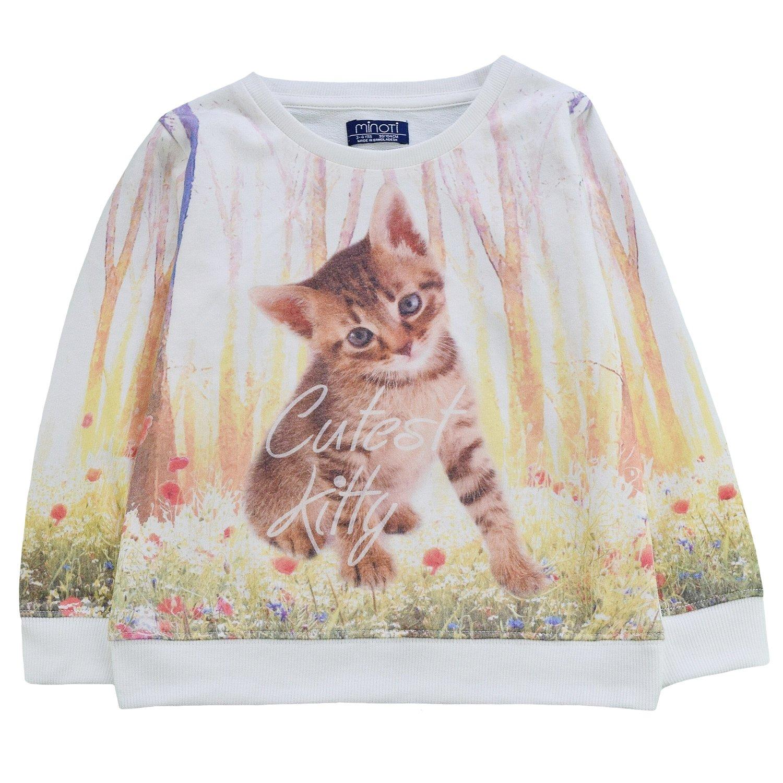 Minoti Baby Girls Kitty Cat Print Jumper