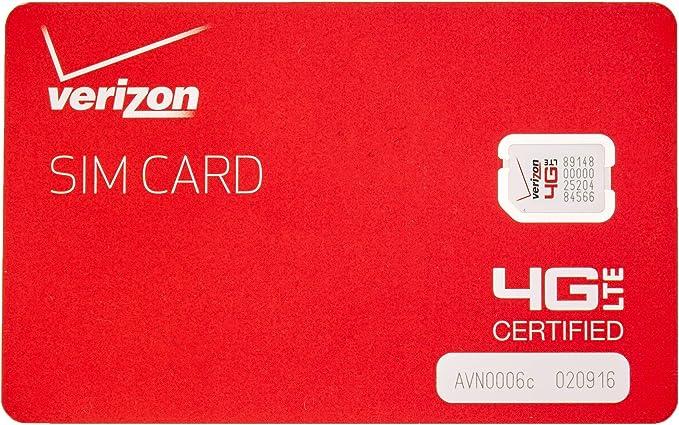 Amazon.com: Marca Nueva Verizon OEM NFC Tarjeta SIM Nano 4 G ...
