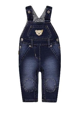 31958f41a0933 Steiff Jungen Latzhose Knitted Jeans  Amazon.de  Bekleidung