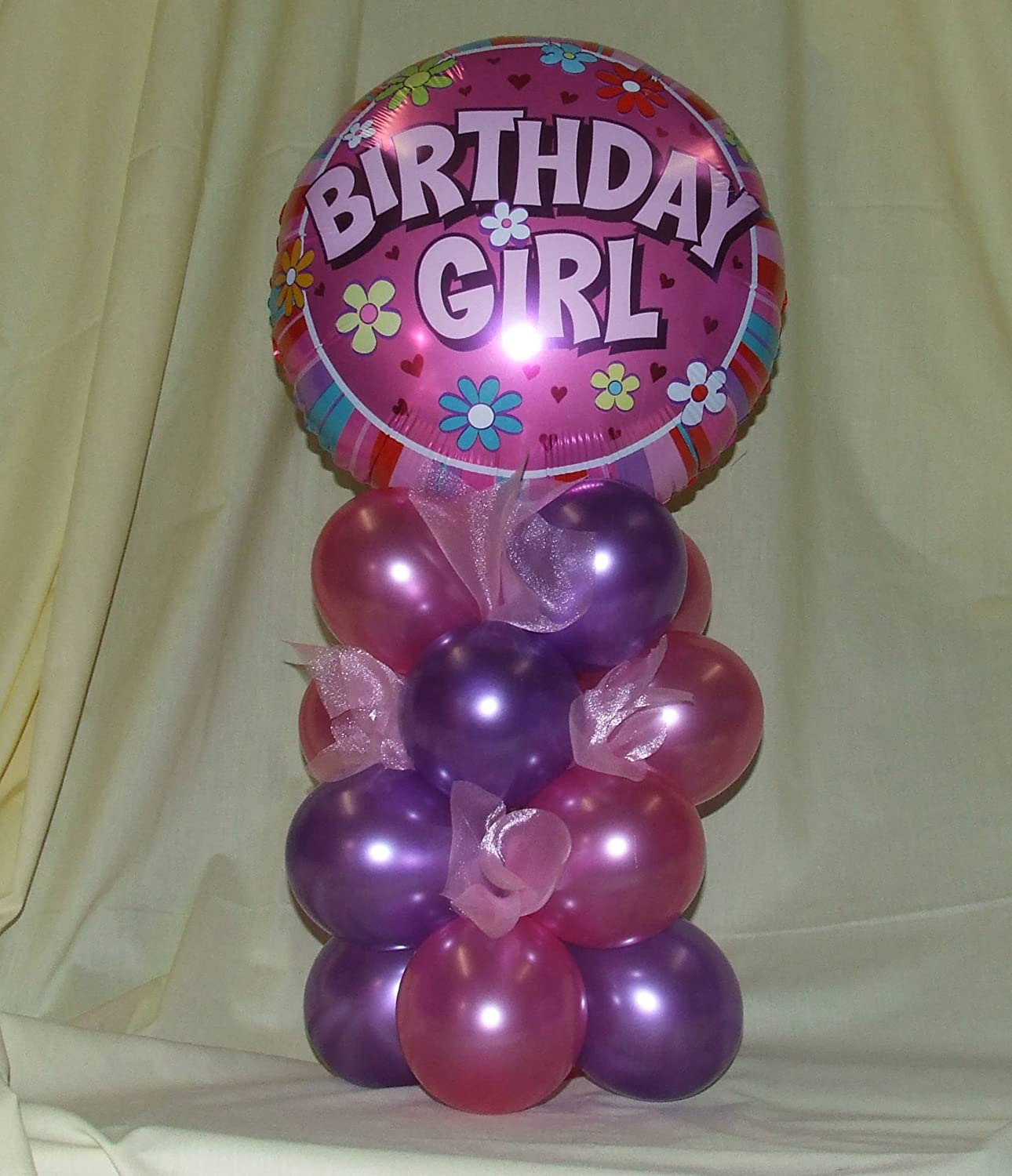 10 x CHRISTENING GIRL PINK BALLOONS PARTY DECORATIONS PA