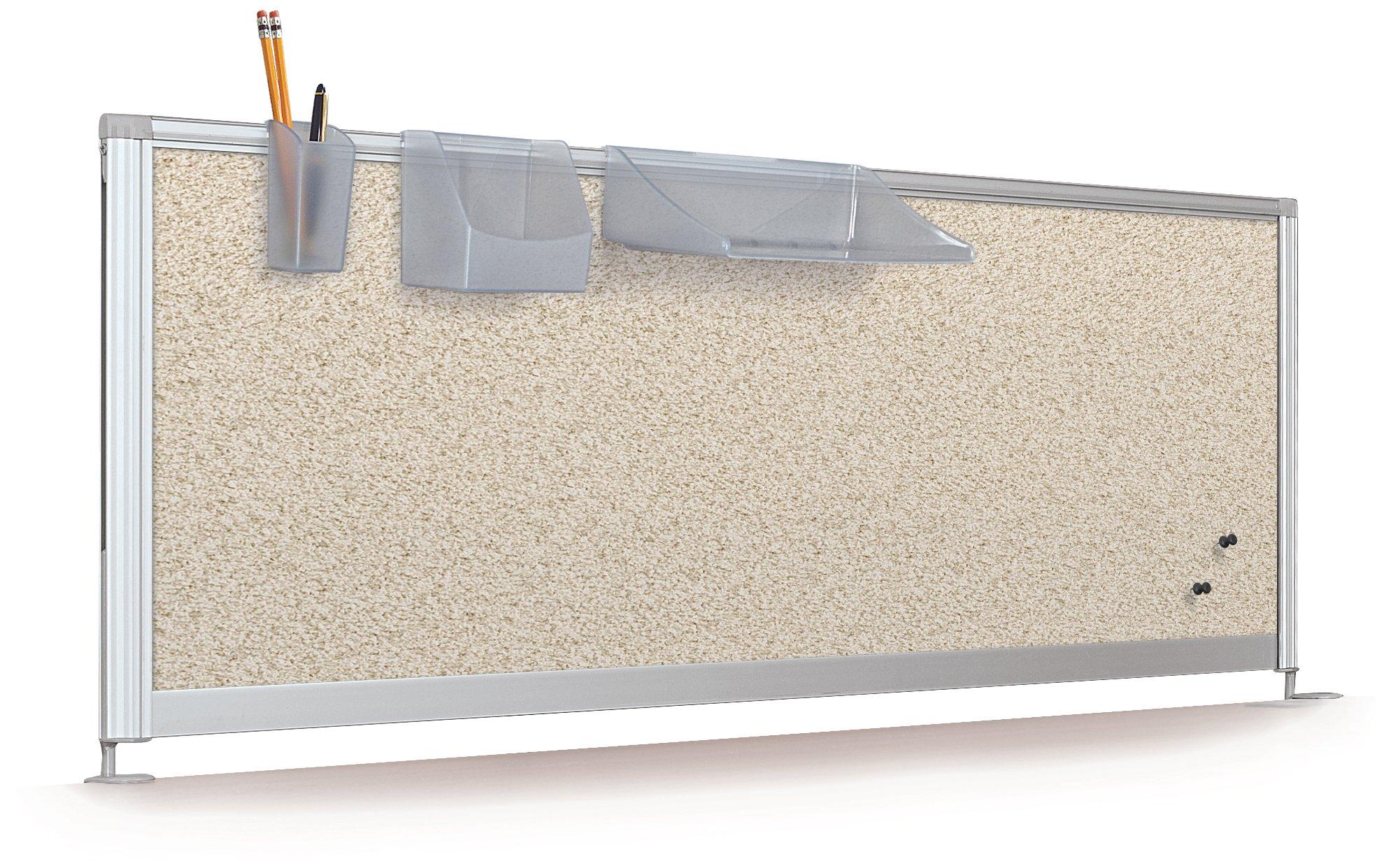 Balt Desktop Privacy Panel, 58-Inch Pebbles Vinyl Quarry by Balt (Image #2)