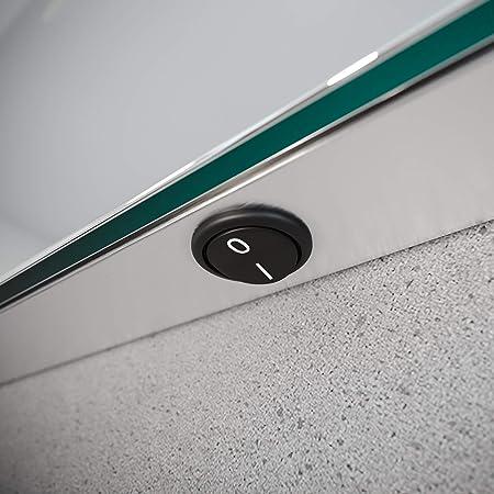 zum Bedienen der Beleuchtung Position Touch Sensor unten mittig Spiegel ID ZUSATZOPTION f/ür LED Badspiegel