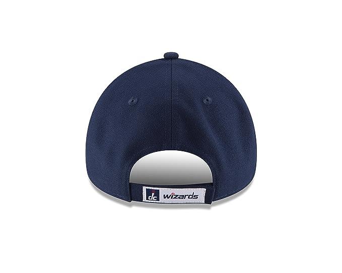 fb57435083e Amazon.com  New Era NBA 9FORTY Washington Wizards Hat The League Adult  Adjustable Cap Navy Blue  Clothing