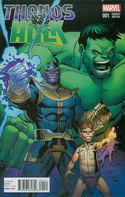Thanos Vs Hulk #1 Variant Cover By Ron Lim: Amazon.es: Jim ...