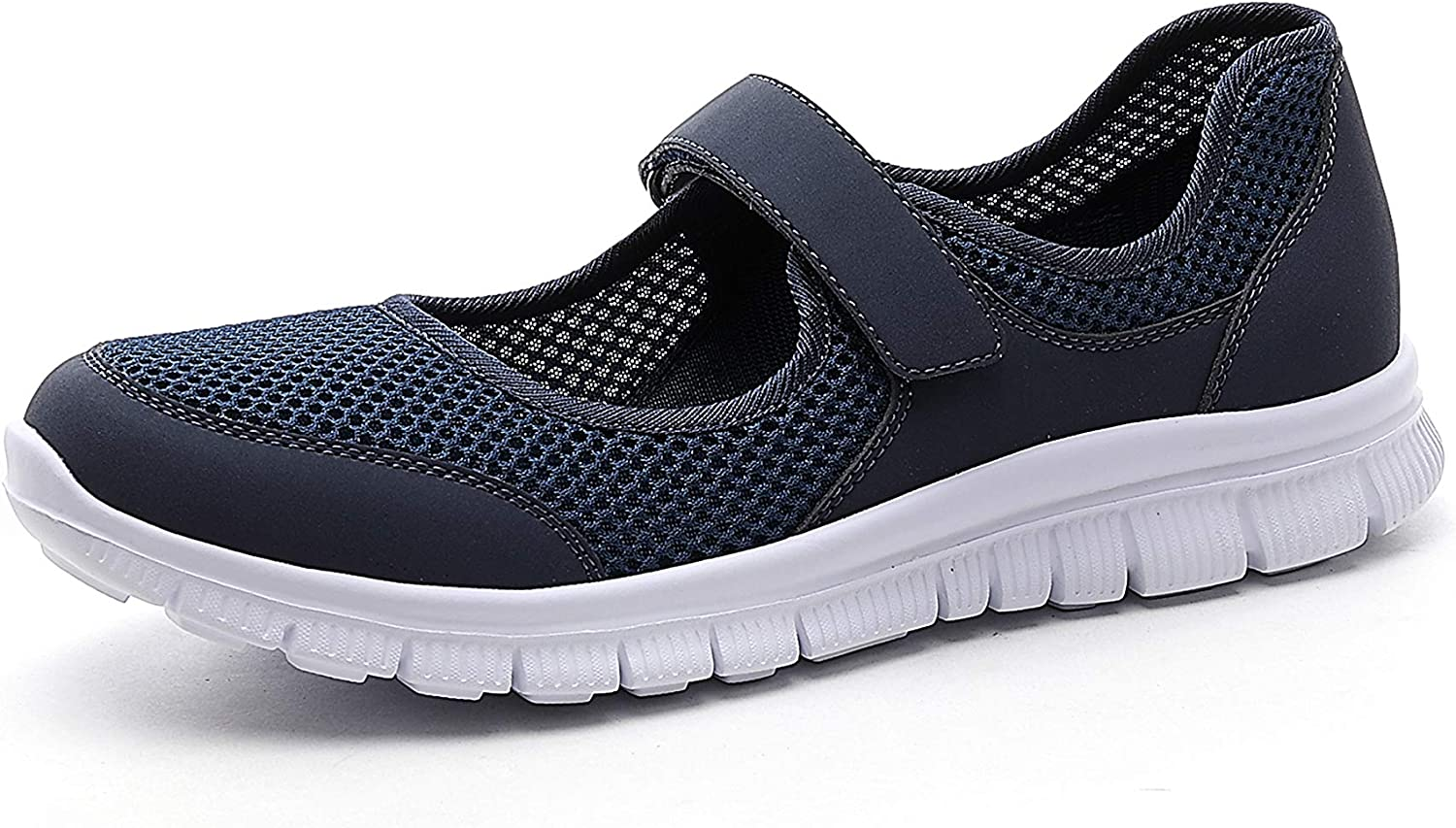 CentroPoint Women's Casual Walking Shoes Ladies Breathable Mesh Mary Jane Sneakers Lightweight Flats Comfy Trainers Fitness Nurse Shoes Outdoor Sandals