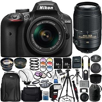 Nikon D3400 con AF-P DX 18-55 mm f/3,5-5,6 VR AF-S 55-300mm f/4.5 ...