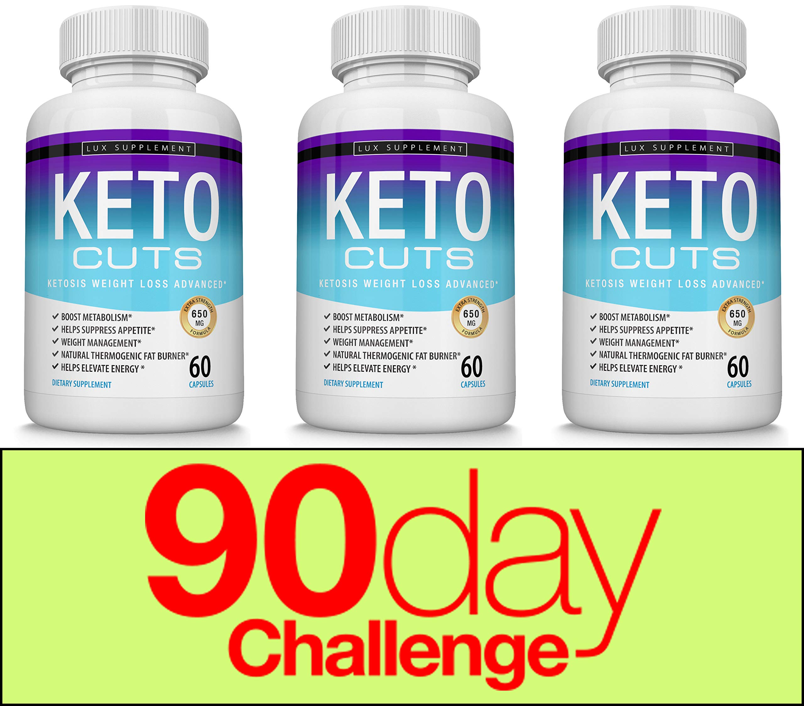 Keto Cuts Pills Ketosis Weight Loss Advanced - Best Ultra Fat Burner Using Ketone and ketogenic Diet, Boost Metabolism and Energy While Burning Fat, Men Women, 60 Capsules Lux Supplement by Lux Supplement