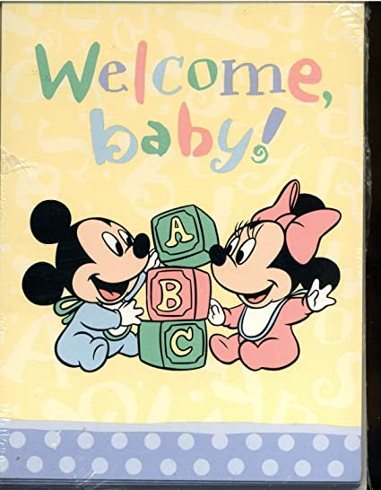 Walt Disneyu0027s Disney Babies   Baby Shower Invitations Featuring Baby Mickey  Mouse And Minnie Mouse 8