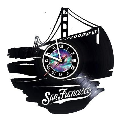 San Francisco - Bridge - Vinyl Record Wall Clock - Get Unique Gifts Presents for Birthday  sc 1 st  Amazon.com & Amazon.com: San Francisco - Bridge - Vinyl Record Wall Clock - Get ...