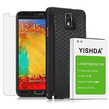 yishda Nota 3 Extended batería, 7000 mAh Extended batería de ...