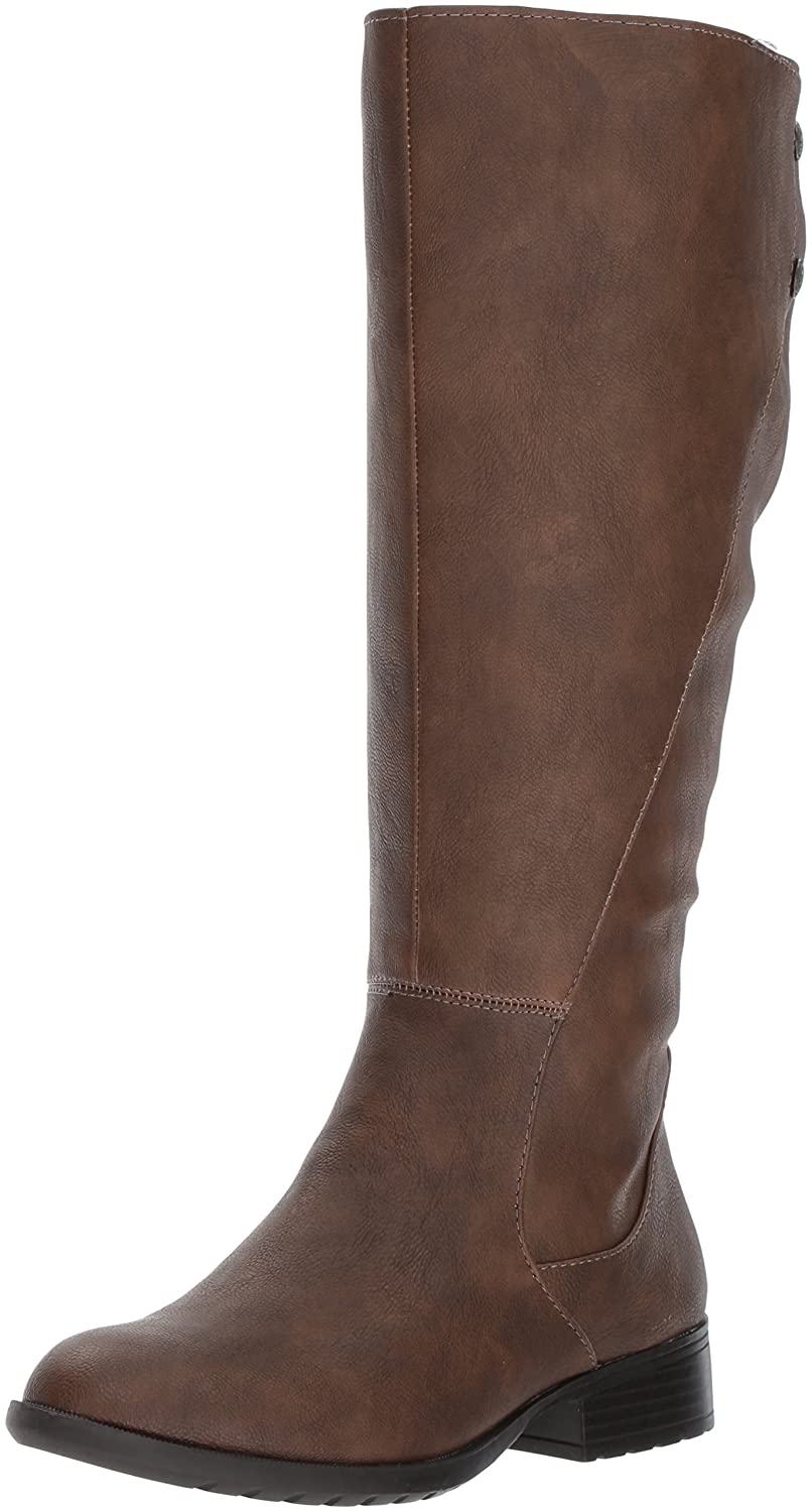 LifeStride Women's Xripley-Wc Riding Boot B071WTG7B4 11 W US|Dark Tan
