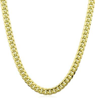 de483f97301c5 10k Gold 9.4mm Miami Cuban Chain Necklace (26) (GO-1449) | Amazon.com