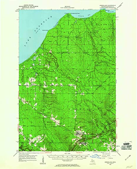 Amazon.com : YellowMaps Greenland MI topo map, 1:62500 Scale ...