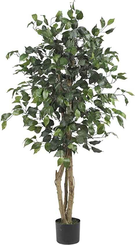 Amazon Com Nearly Natural 5299 Ficus Silk Tree 4 Feet Green Home Kitchen