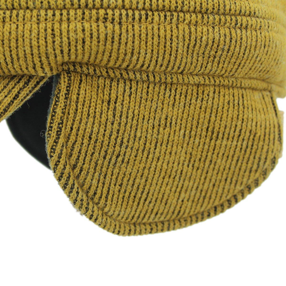 Outfly Unisex Kadetten m/ütze Milit/är m/ütze mit Falten Ohrenklappen
