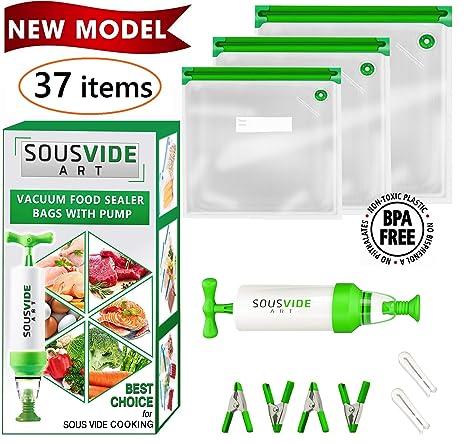 Amazon.com: Sous Vide - Bolsas de almacenamiento de ...