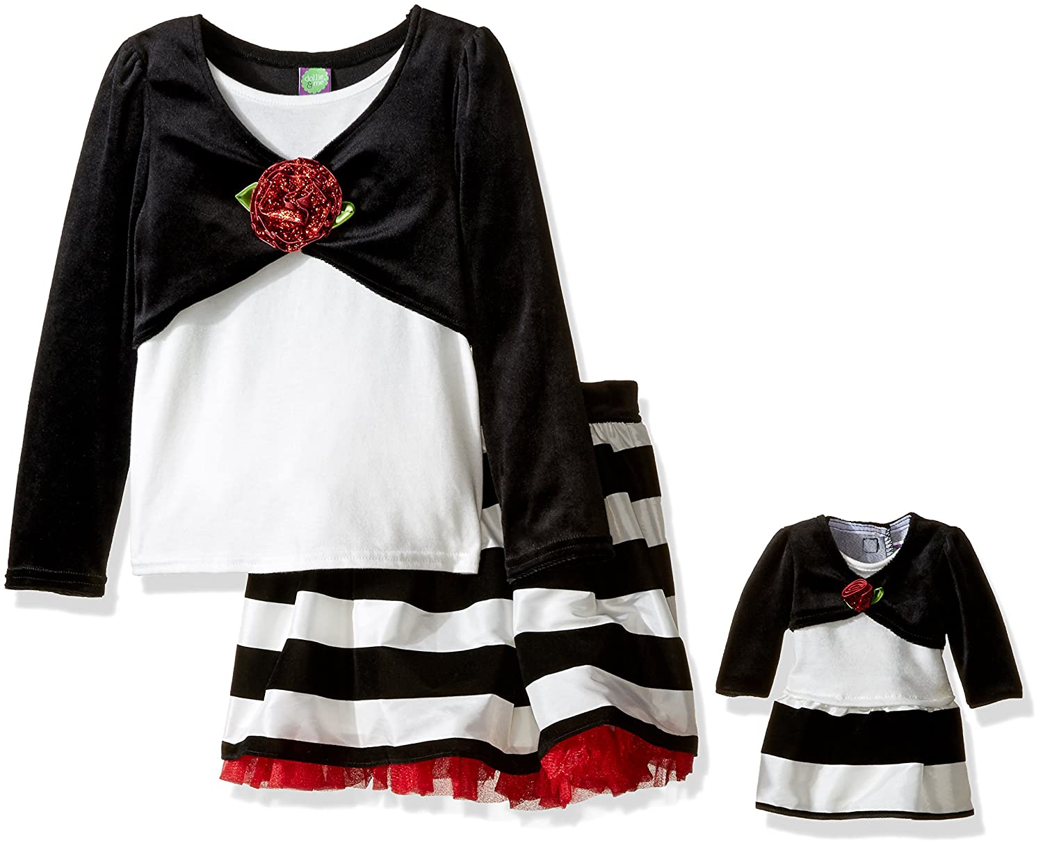 Dollie & Me Girls' Top & Skirt with Matching Doll Outfit 5165611