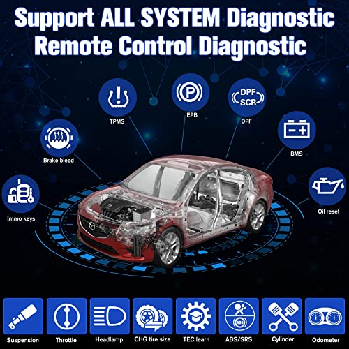 The Autel MS906BT allows you to diagnose your vehicle remotely