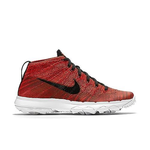 info for acde8 1fc23 Nike Flyknit Chukka - Scarpe da Ginnastica Uomo, Rosso, 45