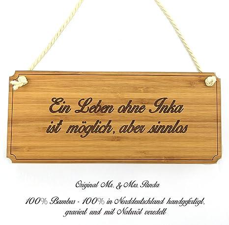 Mr. & Mrs. Placa para puerta Panda Inka Classic Cartel - 100 ...