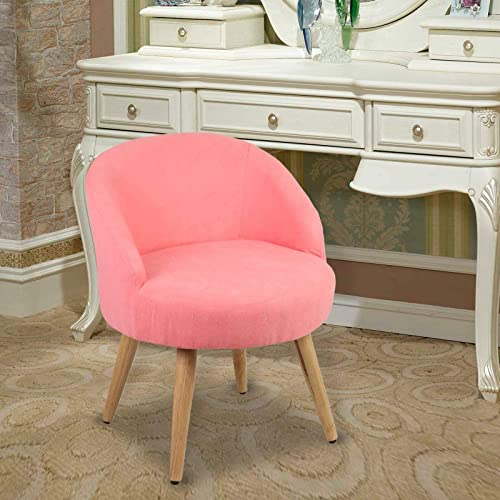 Magshion Vanity Stool Chair Ottoman Makeup Bathroom Accent Stool Pink
