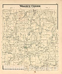 Historic 1875 Map - Caldwell's Atlas of Holmes Co, Ohio - Walnut Creek - Caldwell's Atlas of Holmes County, Ohio 37in x 44in
