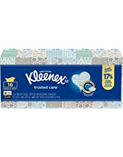 Kleenex Trusted Care Everyday Facial Tissues,16 Flat Boxes, 100 Tissues per Box (1,600 Count Total)
