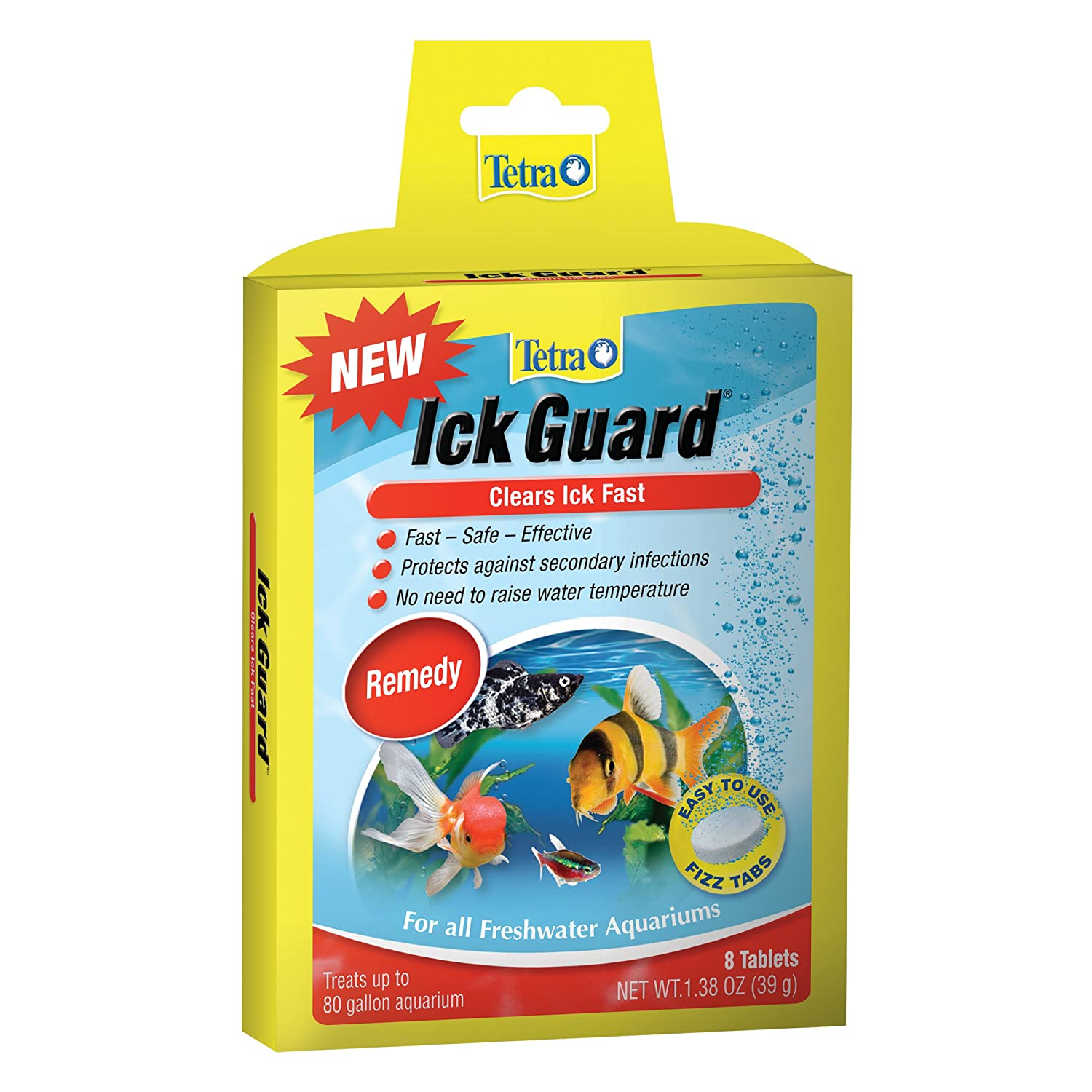 Tetra Ick Guard Aquarium Remedy, Easy to Use Fizz Tabs, 8-Count 77347