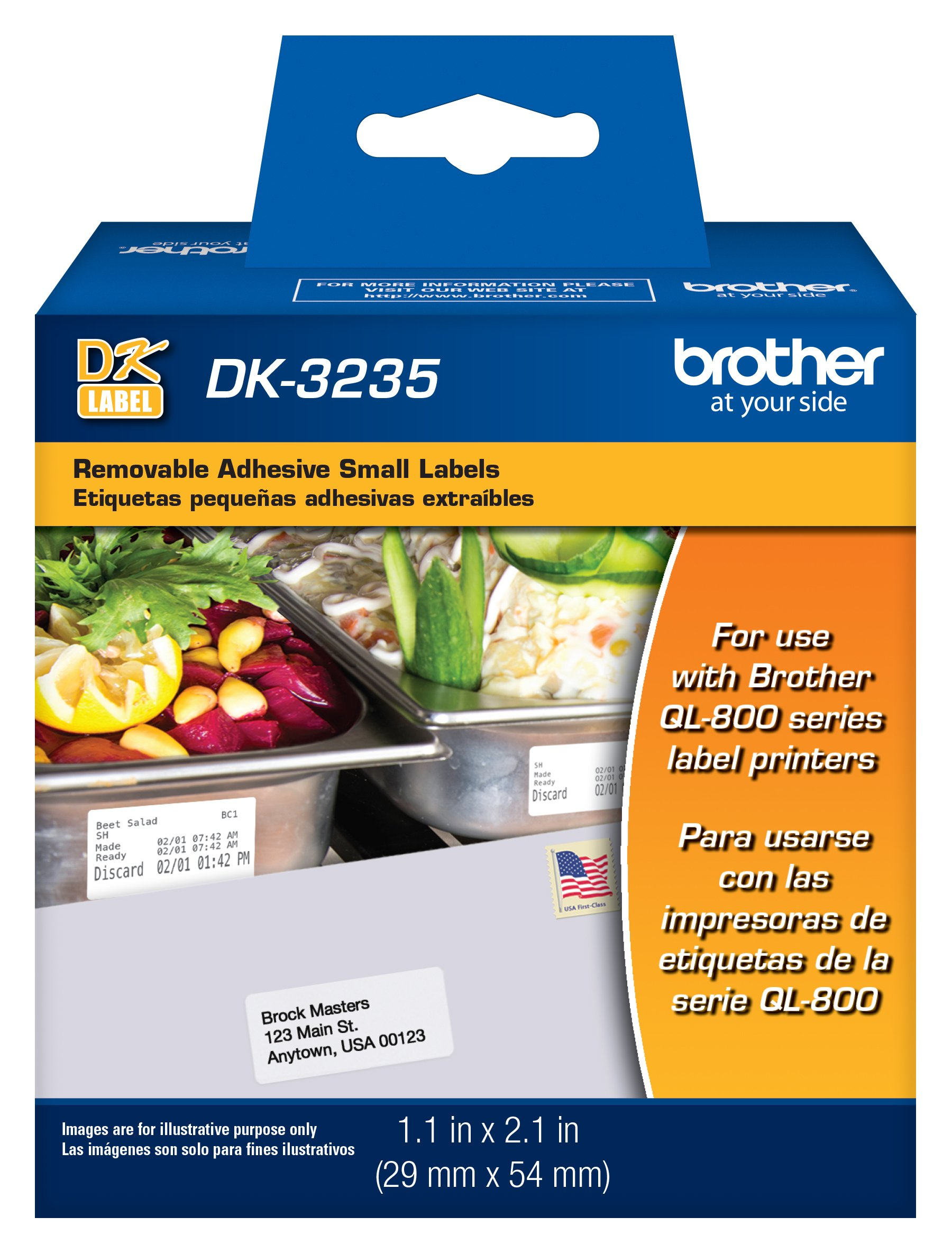 Brother Printer Die Cut Removable Adhesive Small Labels (DK3235) by Brother