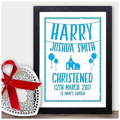 Personalised Handmade Christening Day Card Baby Boy Son Nephew Godson Grandson