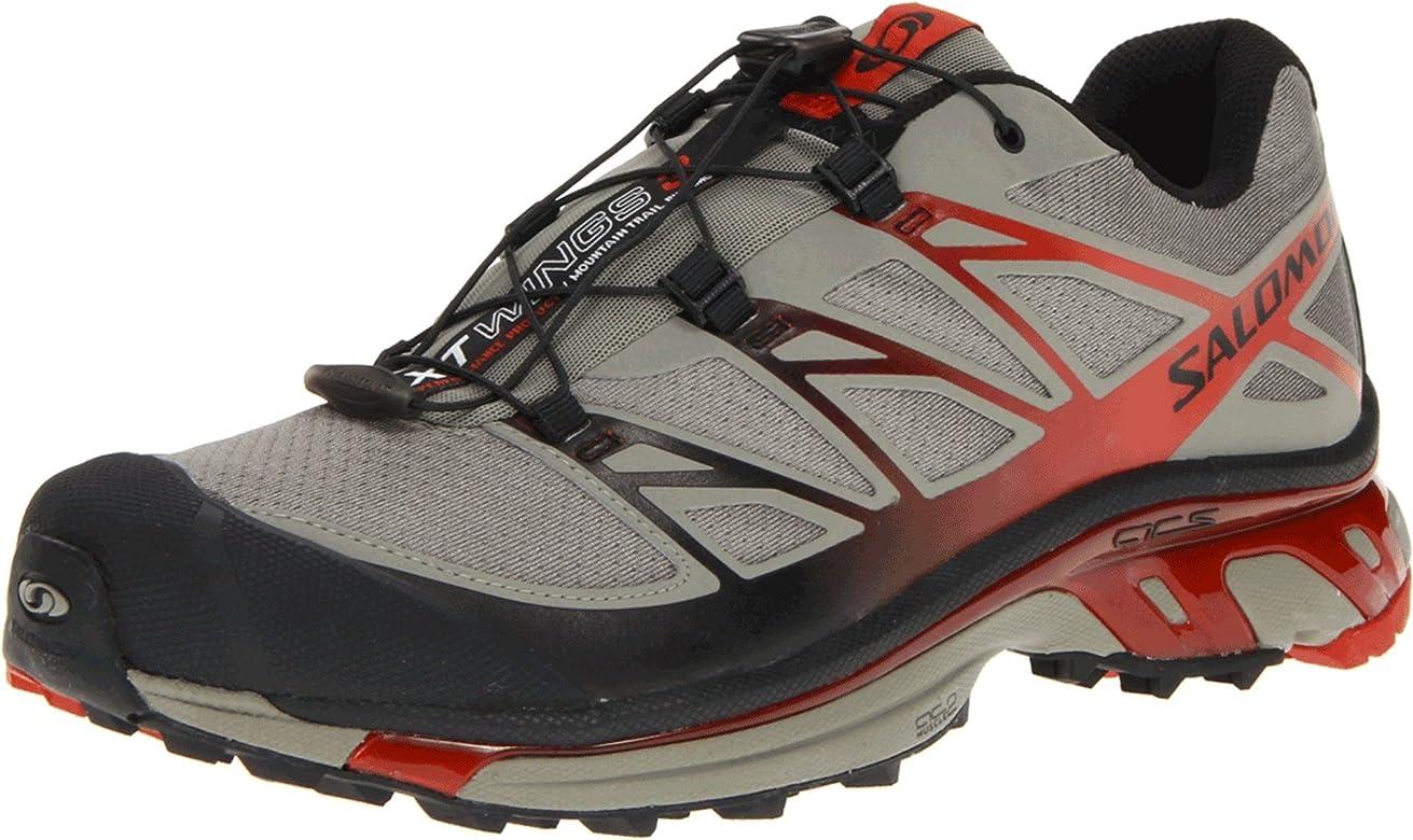 SALOMON XT Wings 3 Zapatilla de Trail Running Caballero, Gris/Naranja, 41 1/3: Amazon.es: Zapatos y complementos